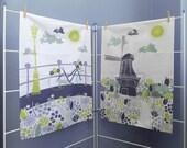 Amsterdam Tea Towels, Large Cotton Dish Cloth Gift Set