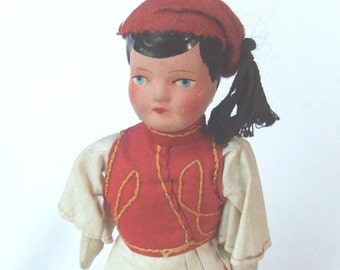 Greek Doll in Traditional Costume Mid Century