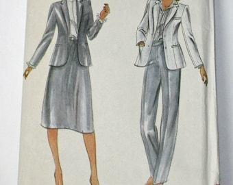 Butterick 3632, Vintage 1980s, Sewing Pattern, Misses' Jacket, Skirt and Pants, Misses' Size 10,  UNCUT, FF