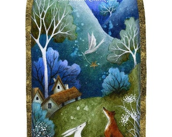 A fairytale art print . 'Looking for Home'  by Amanda Clark.