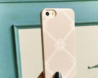 Elegant iPhone 6S Case, Geometric iPhone 5S, Lattice Pattern, iPhone 6, Diamond iPhone 6S Plus Case, Squares, Hollywood Regency