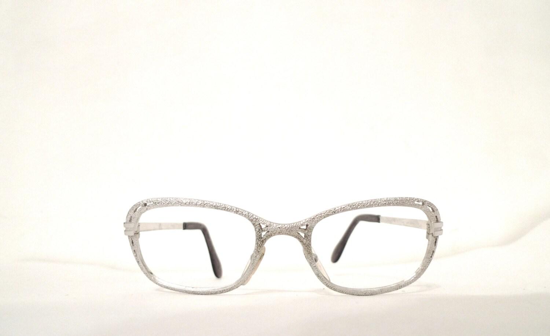 Mod White Gold Eyeglass Frame. 1/20 12KT GF Metal Glasses.