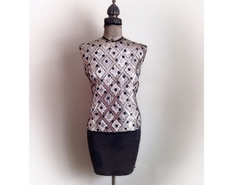 Vintage  1960s Glitzy Sleeveless Blouse