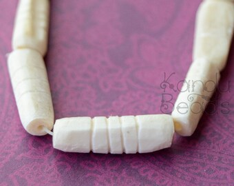 SALE 50% OFF - Carved Cattle bone beads  22mm (choose how many beads)