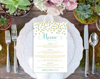 Custom Wedding Menu // Reception // Wedding Decor // Wedding Menu Card // Wedding Reception Menu // Buffet Menu // Food Labels // Food Cards