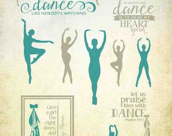 Dance SVG Files - Dancer SVG Files - Ballet SVG Files - Dance Vectors for Cricut and Silhoutte - Cuttable Svg Dance Files - Ai Eps Gsd Svg