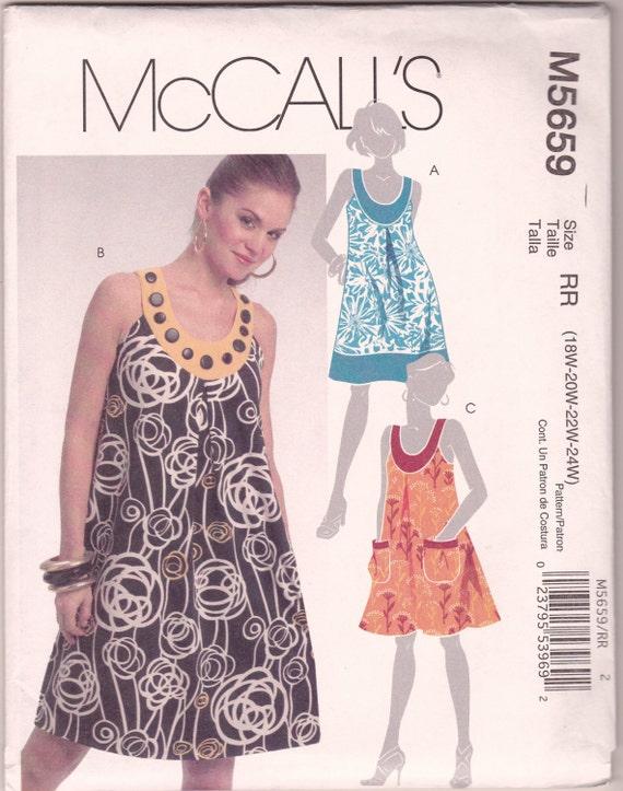 Summer Mumu Dress McCalls M5659 Sewing Pattern Plus Size