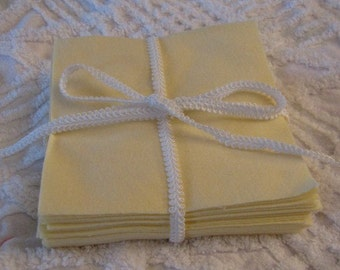Set of 36 Yellow Flannel 6 inch Rotary Cut Squares for Quilts or Crafts