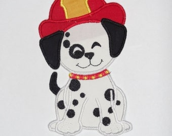 "Embroidered Iron On Applique ""Firedog"""