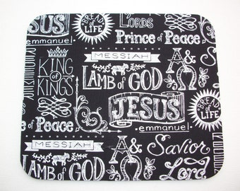 Mouse Pad mouse pad / Mat - Names of Jesus round or rectangle office accessories desk home decor