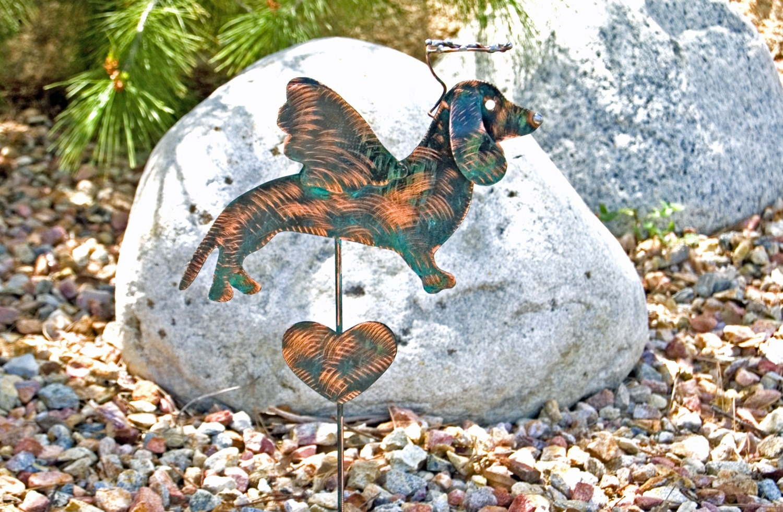 Dachshund Pet Memorial Planter Stake Grave By Gardencopperart