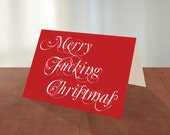 Merry Fucking Christmas - Holiday Greeting Card Set
