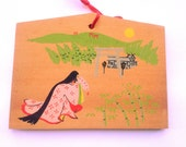 Japanese Ema - Shrine Wood Plaque - Princess Kaguya - The Tale of the Bamboo Cutter - Taketori Monogatari - E3-44