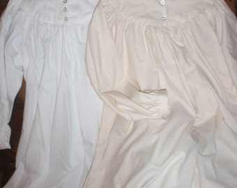 1800s Little House Prairie Pioneer Nightgown for Girls
