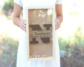 Personalized Wine Cork Keeper Custom Wedding Gift Rustic Barn Wedding Bridal Shower Present QUICK shipping available