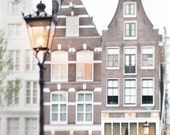 Amsterdam Photography - Lamplight in Amsterdam, Dutch Architecture, Netherlands Fine Art Photograph, Travel Wall Decor, Large Wall Art