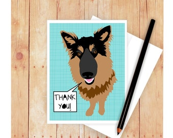 German Shepherd Thank You Card, Happy Father's Day Card, German Shepherd Birthday Card, Congratulations Card, Dog Greeting Card, Dog Card