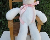 Final payment for Ravie13 for a custom Teddy bear - white terry cloth bear