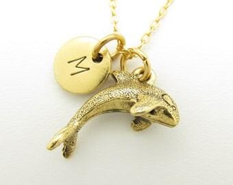 Gold Killer Whale Etsy