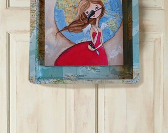 Child of the Wild Blue Yonder Original Art Painting