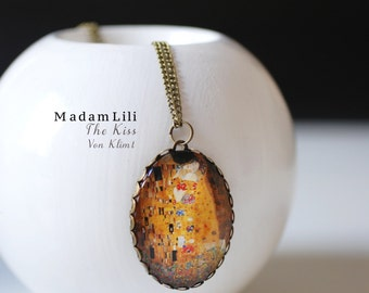 The Kiss by KLIMT Nostalgic Necklace