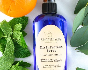 All-Natural Disinfectant Spray - Aromatherapy - Naturally Clean - All-Natural Cleaning Products - Gifts Under 10 - Stocking Stuffer