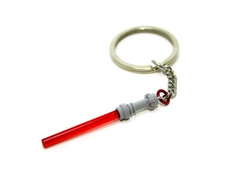 Red Light Saber Keychain, made from LEGO® Star Wars Pieces