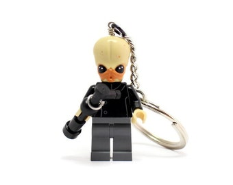 Star Wars Bith Musician Keychain - made from Genuine Star Wars LEGO (r) Minifigure from Star Wars Cantina