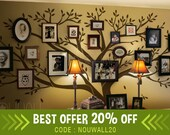 Photo Frame Family Tree Wall decal ,Tree Wall decals- Wall Stickers- wall decor -wall art