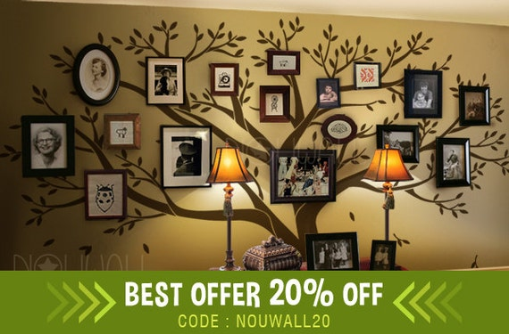 Picture Frame Wall Decals photo frame wall decal family tree wall decals wall