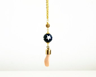 no12- Magic Trick - Doll Parts Blythe Necklace - for doll lover - strange things by Karolin Felix