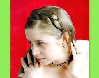 braided headband plait woman hair accessory braid hair wide hairband hair band wedding bridal hairband hair head band hairpiece fake hair