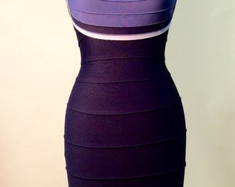 HERVE LEGER / BERGDORFS Couture Bandage Dress / Pristine Condition