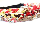 Fashion Headband, Faith and Fit Set of 3 Scrappy Bands In Warm Florals