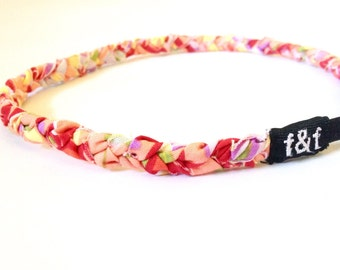 Fashion Headband, Faith and Fit Scrappy Band in Peach Floral