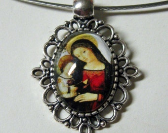 Madonna and child necklace - AP01-119