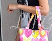 Heart Tote bag - Heart Handbag - Diaper bag - School bag - Heart purse