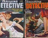 THRILLING DETECTIVE MAGAZINES, Detective Pulp Magazines from the 1950s