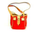 Dooney and Bourke Red Cabrio Tote // Small Shoulder Bag