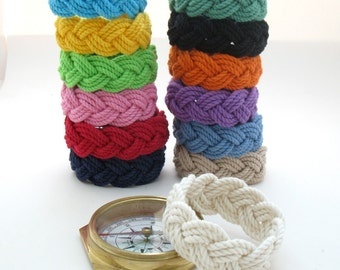 13 Colors Sailor Knot Bracelet Cotton Rope Bracelet, You Choose the Sailor Knot Color
