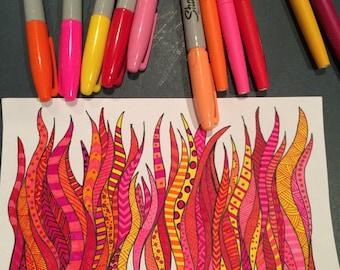 Studio 1500 5x8 Illustration/Doodle Flames 2