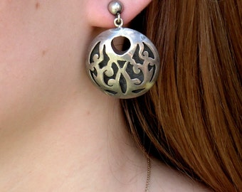 Sale ~ Vintage Sterling Silver Earrings, Mexico D.F.