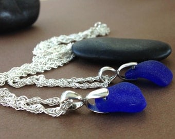 Choose One - Sea Glass Pendants- Sea Glass with Sterling Silver Pendant Necklace