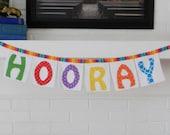HOORAY party bunting, birthday, celebration, congratulations, graduation