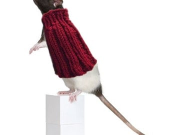 Pet Rat Sweater Cozy Unique Extra Stretchy One-Size-Fits-Most Rodents Clothes Accessories