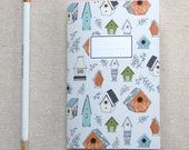 Mini Journal, Booklet, Jotter, Pocket Notebook - Bird House