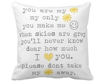 Pillow Cover You are my Sunshine