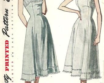 Vintage 50s Sewing Pattern / Princess Slip / Simplicity 3352 / Lingerie / Size 18 Bust 36