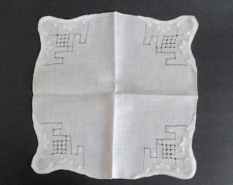 Hankie Drawnwork Appliqued Still New Wedding Handkerchief