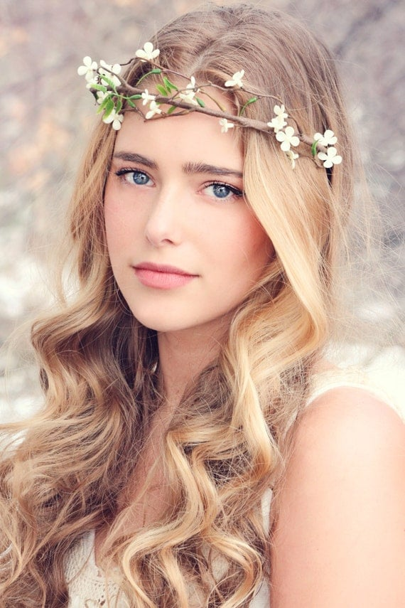 flower crown wedding hair flower fall wedding fall flower bridal hair 4156